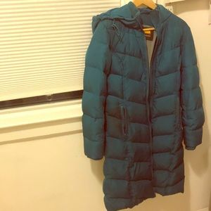Brooklyn Industries teal puffer coat